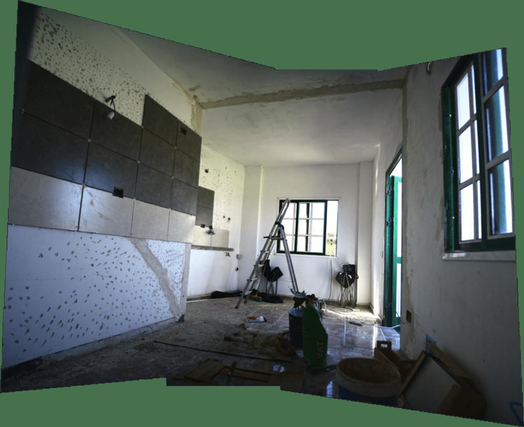La nueva cocina va cogiendo forma