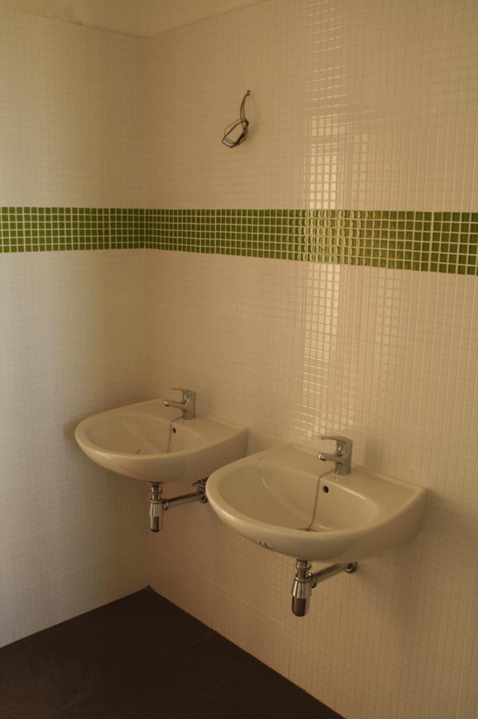La zona de lavabos