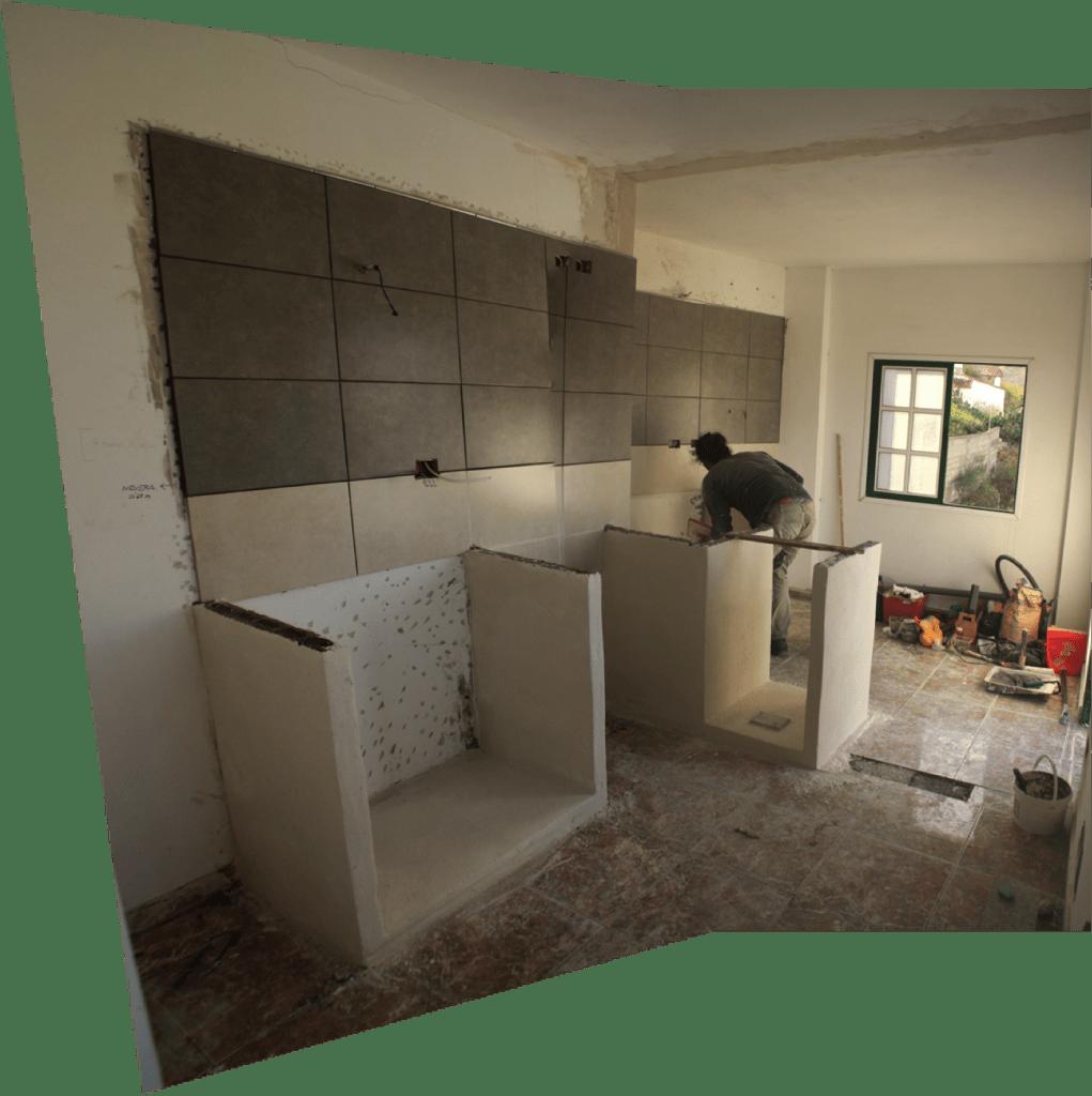 Vista de la cocina desde el interior del Climbing House